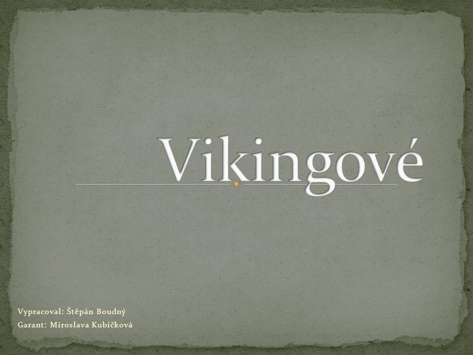 Vypracoval: Štěpán Boudný Garant: Miroslava Kubíčková