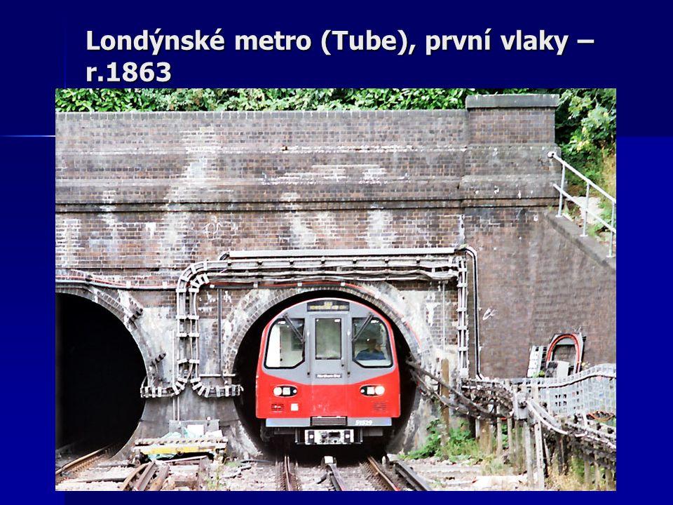 Londýnské metro (Tube), první vlaky – r.1863