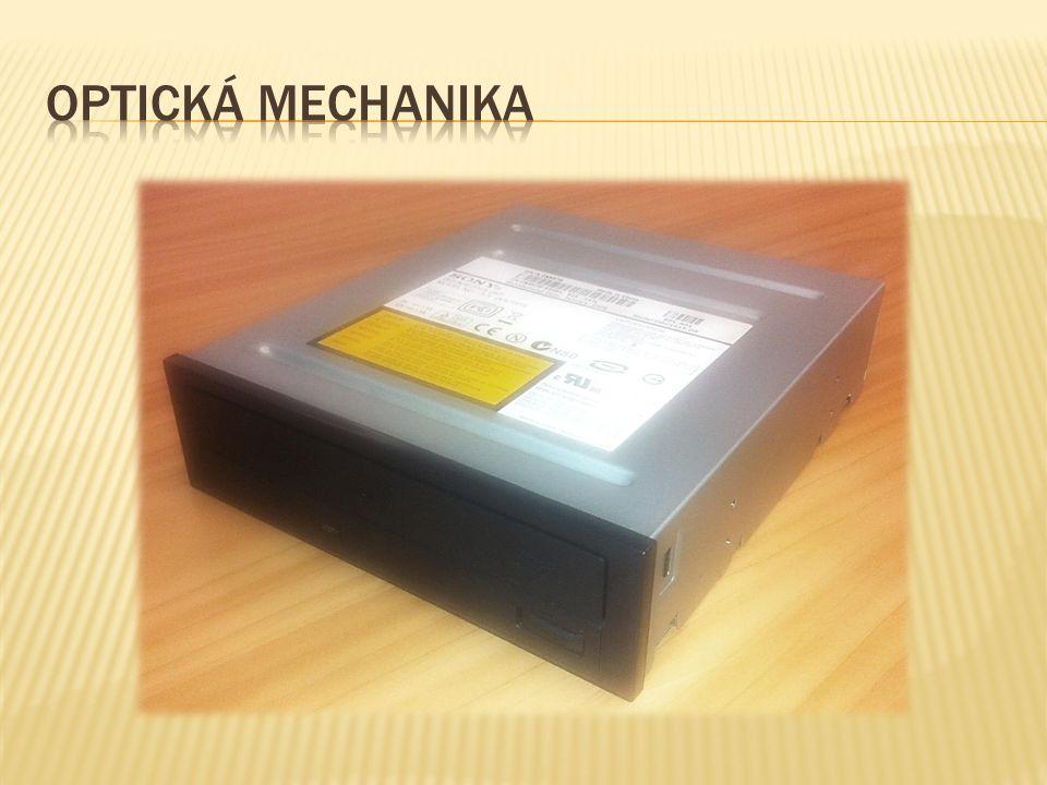  Optická mechanika slouží v PC zejména k instalaci software a přehrávání zábavních médií.