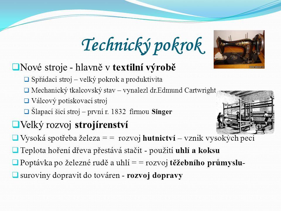 Anglie=strojovna Evropy  Průmysl. revoluce zde začala nejdříve - 1770 – 1830  pro rozvoj průmyslu nejlepší podmínky: - od 14. století zde neexistova
