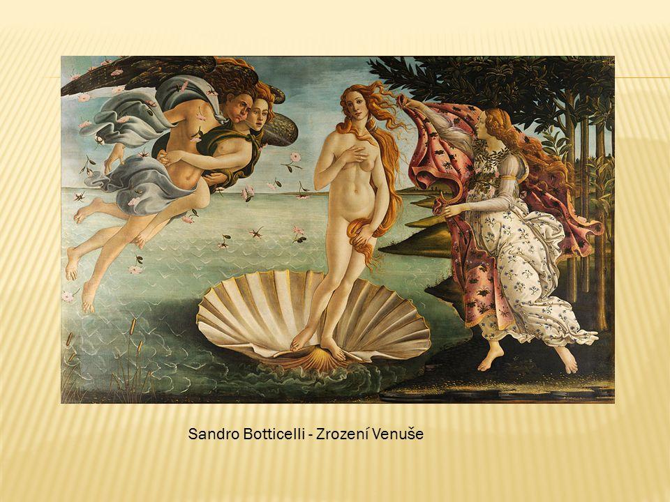 Sandro Botticelli - Zrození Venuše