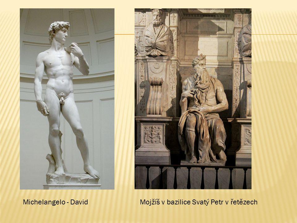 Michelangelo - DavidMojžíš v bazilice Svatý Petr v řetězech