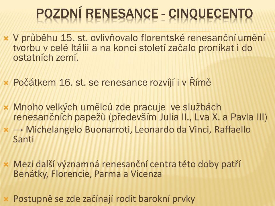  V průběhu 15. st.
