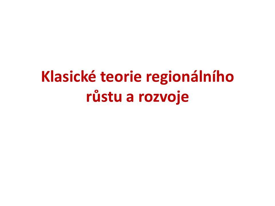 Klasické teorie regionálního růstu a rozvoje