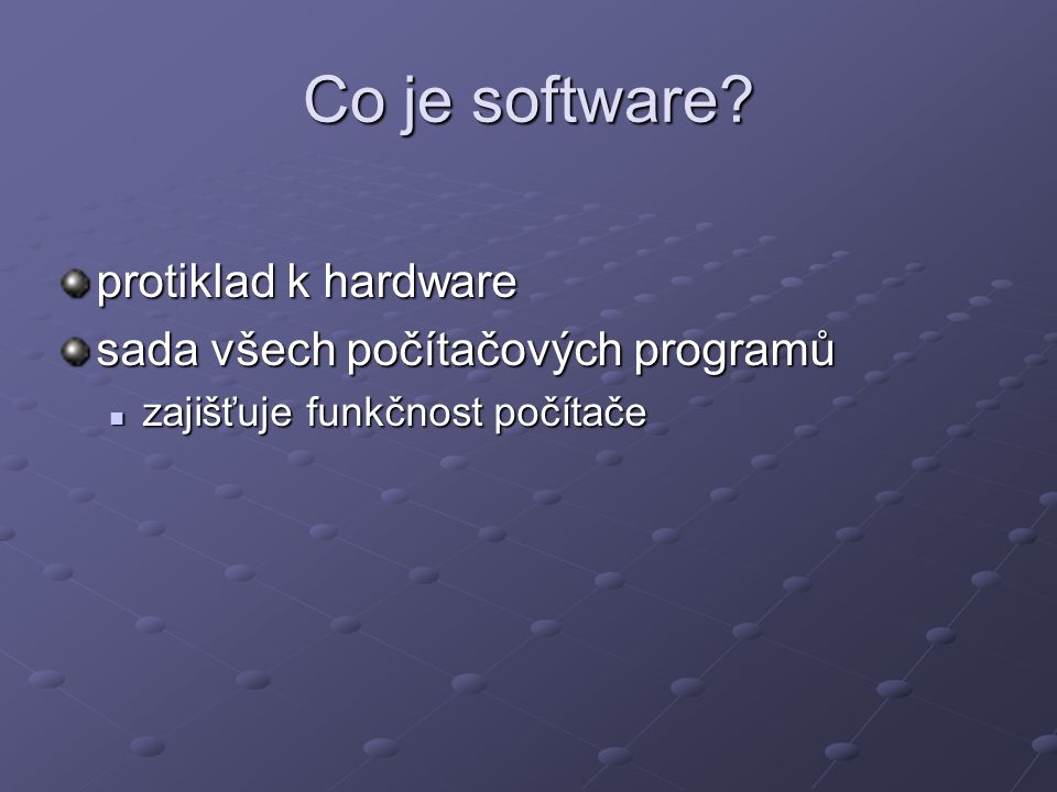 Co je software.