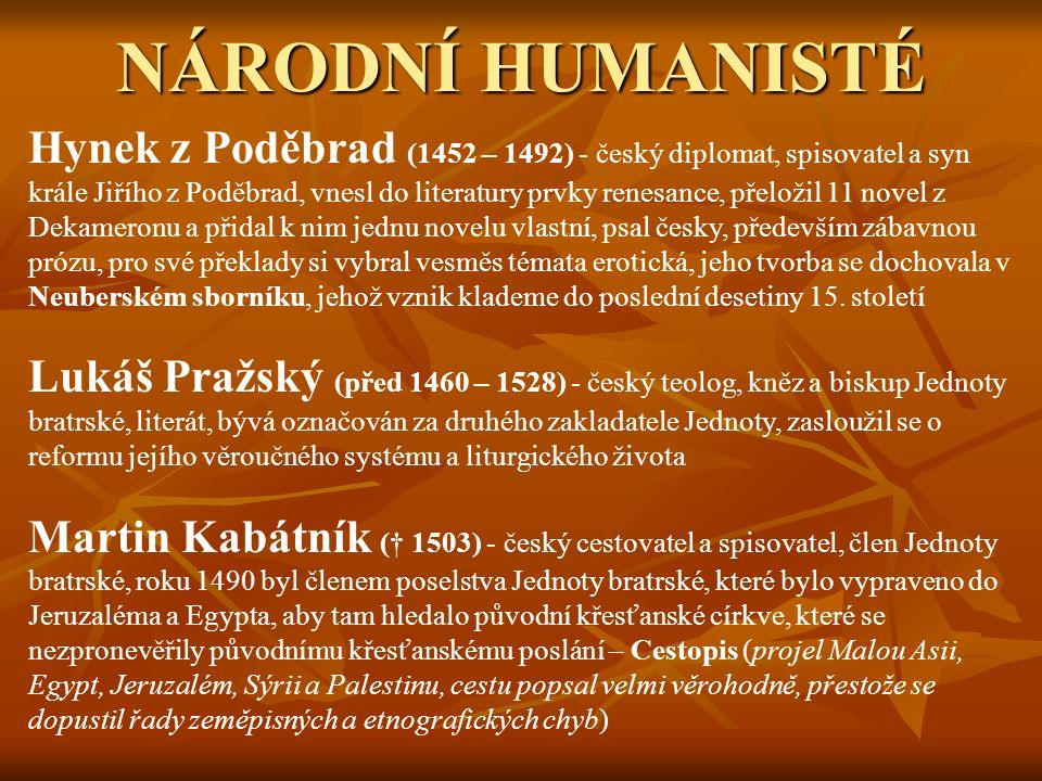 ZLATÝ VĚK ČESKÉ LITERATURY doba veleslavínská doba rudolfinská – vláda císaře Rudolfa II.