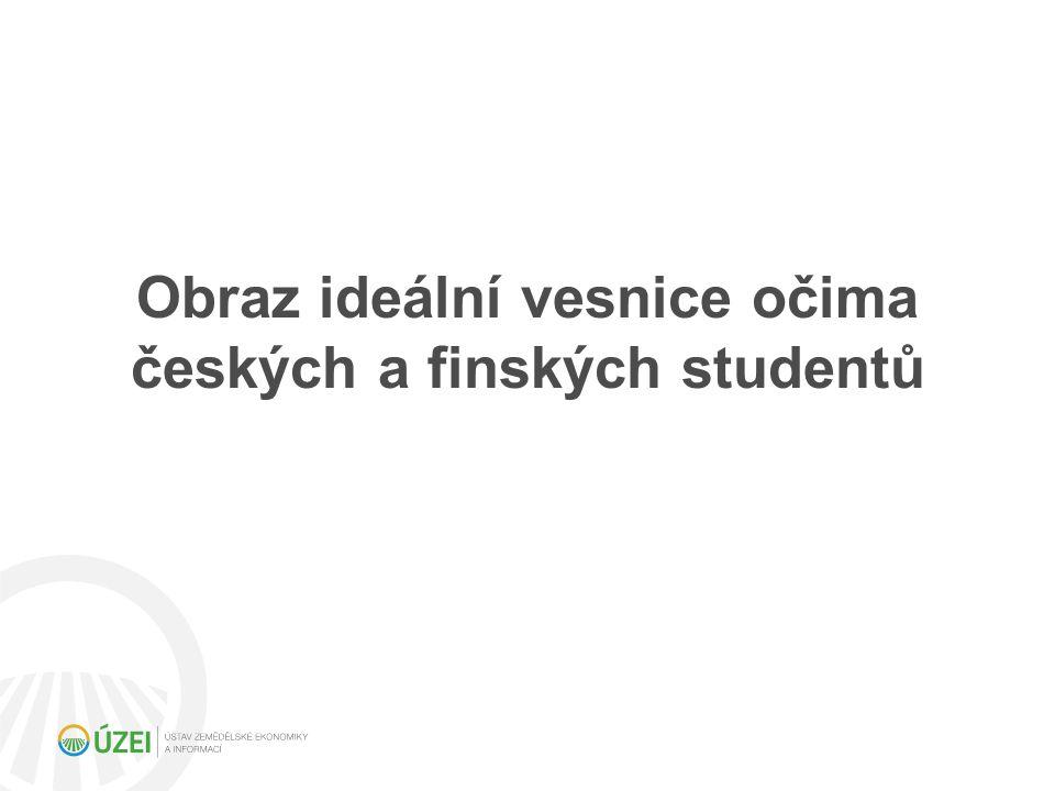 Obraz ideální vesnice očima českých a finských studentů