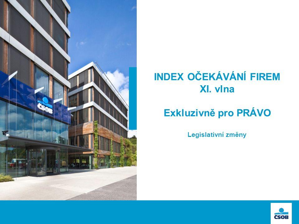 INDEX OČEKÁVÁNÍ FIREM XI. vlna Exkluzivně pro PRÁVO Legislativní změny
