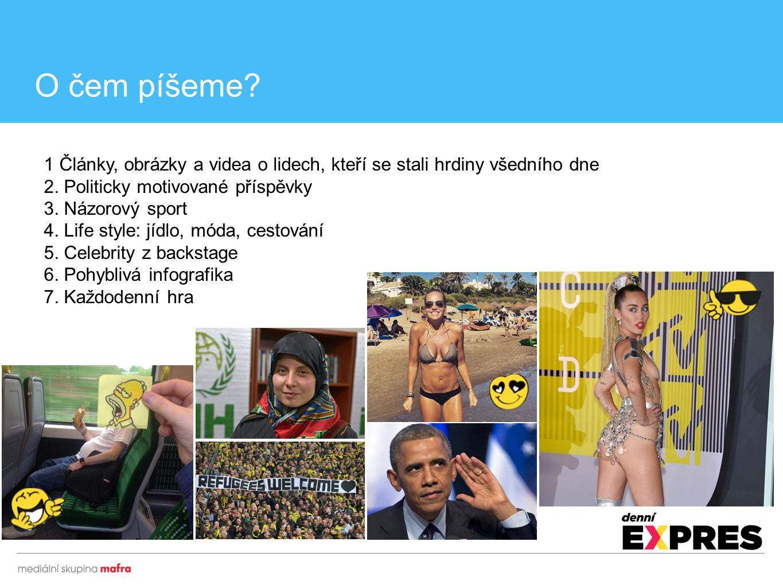 1 Články, obrázky a videa o lidech, kteří se stali hrdiny všedního dne 2. Politicky motivované příspěvky 3. Názorový sport 4. Life style: jídlo, móda,