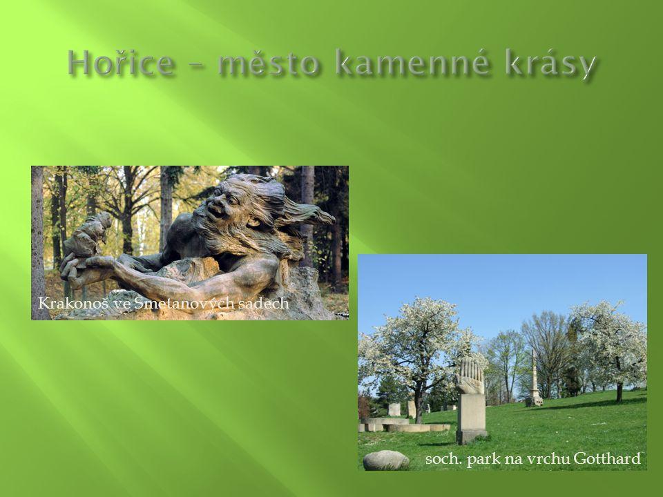 soch. park na vrchu Gotthard Krakonoš ve Smetanových sadech