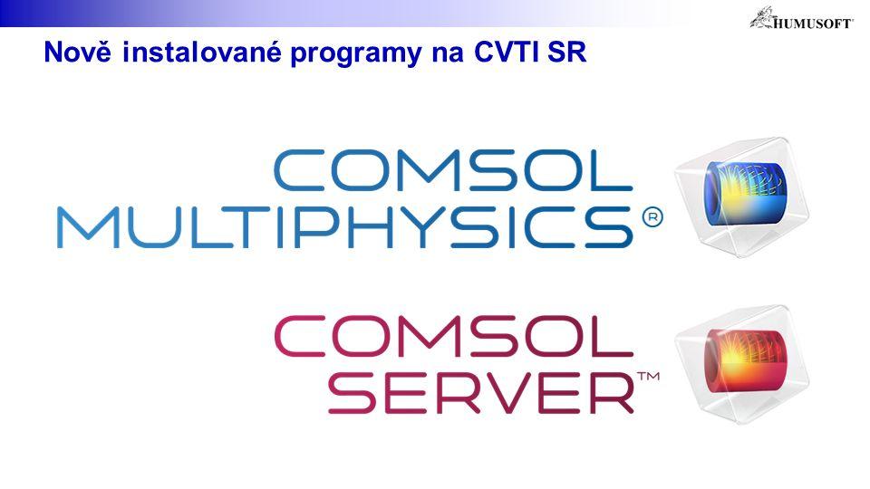 Nově instalované programy na CVTI SR
