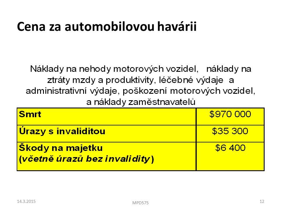 Cena za automobilovou havárii 14.3.201512 MPD575