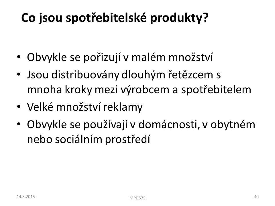 Co jsou spotřebitelské produkty.