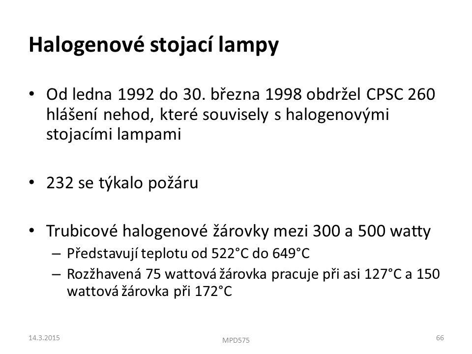 Halogenové stojací lampy Od ledna 1992 do 30.