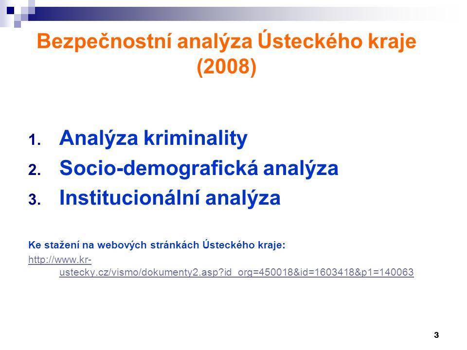 3 Bezpečnostní analýza Ústeckého kraje (2008) 1. Analýza kriminality 2.