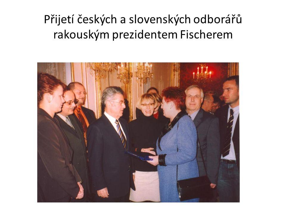 Přijetí českých a slovenských odborářů rakouským prezidentem Fischerem