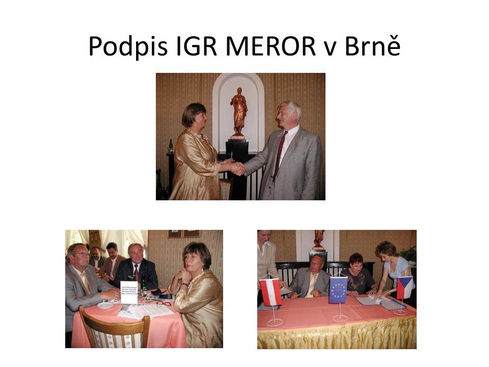 Podpis IGR MEROR v Brně