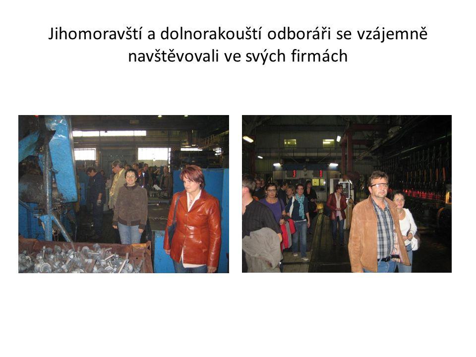 Jihomoravští a dolnorakouští odboráři se vzájemně navštěvovali ve svých firmách