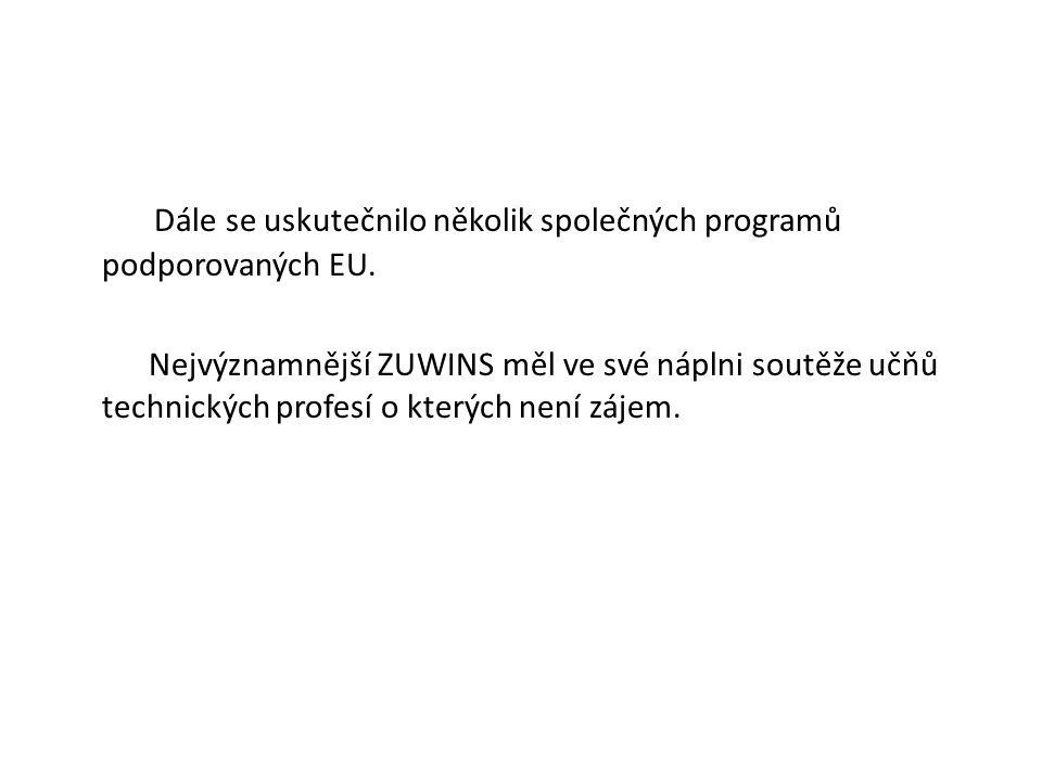 Dále se uskutečnilo několik společných programů podporovaných EU.