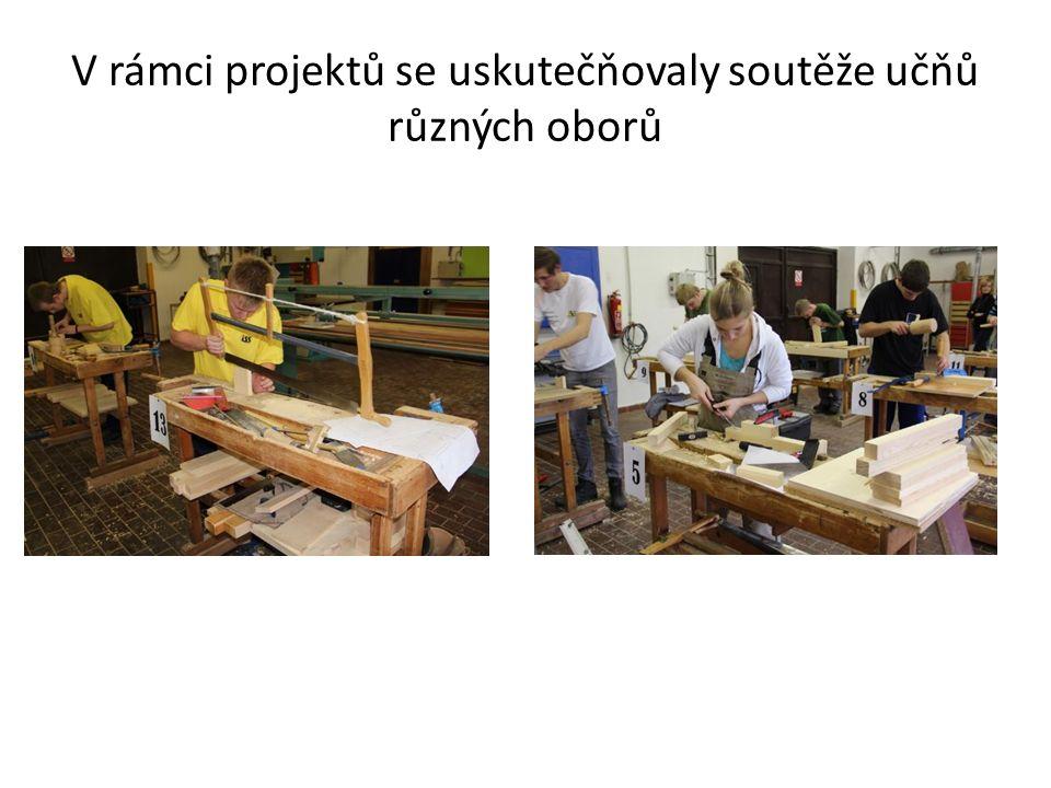 V rámci projektů se uskutečňovaly soutěže učňů různých oborů