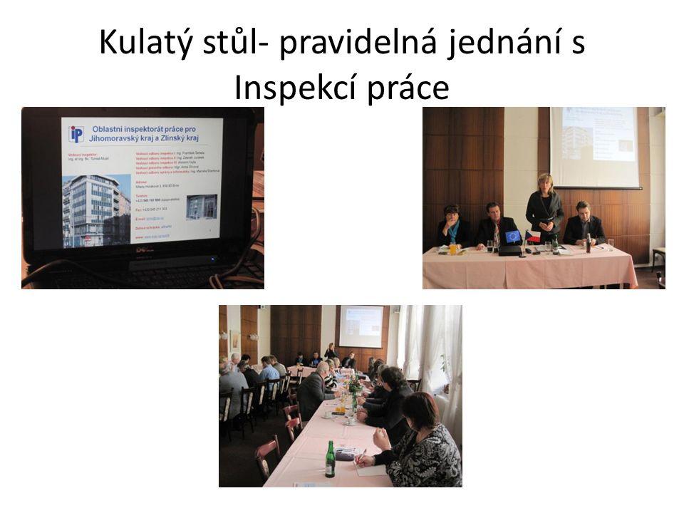 Kulatý stůl- pravidelná jednání s Inspekcí práce
