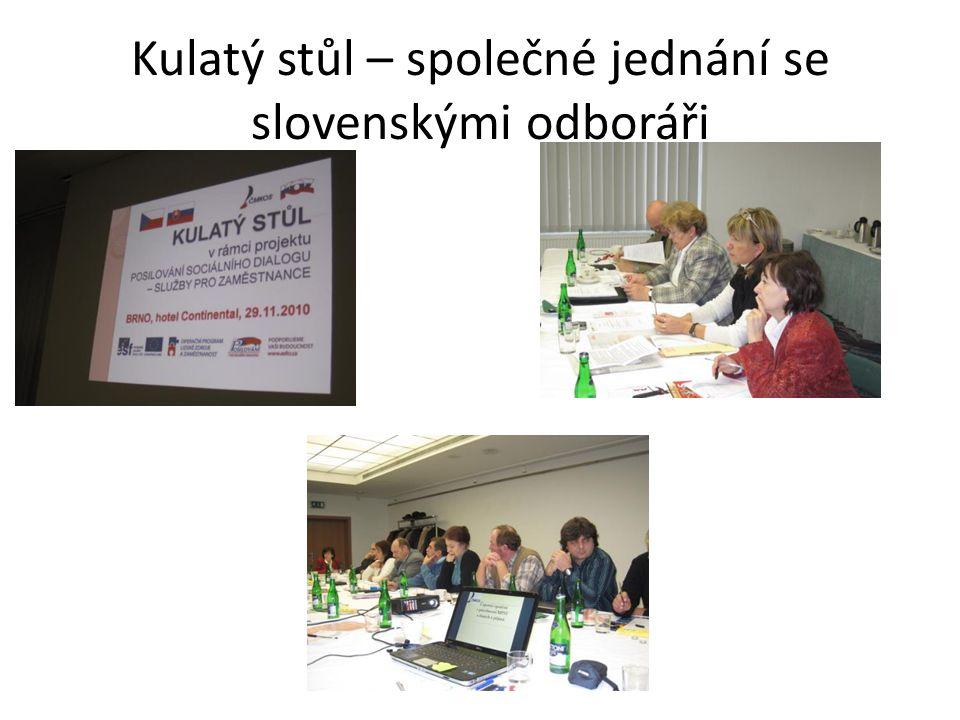 Kulatý stůl – společné jednání se slovenskými odboráři