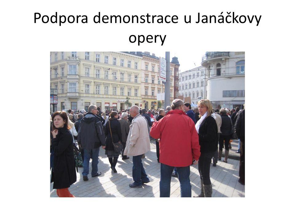 Podpora demonstrace u Janáčkovy opery