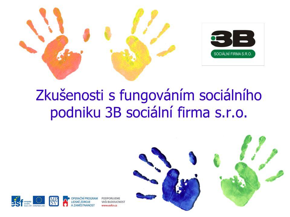 Zkušenosti s fungováním sociálního podniku 3B sociální firma s.r.o.