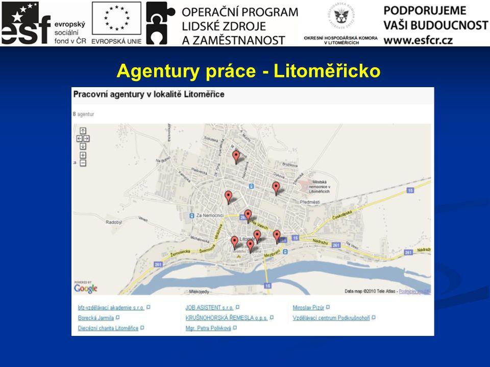 Agentury práce - Litoměřicko