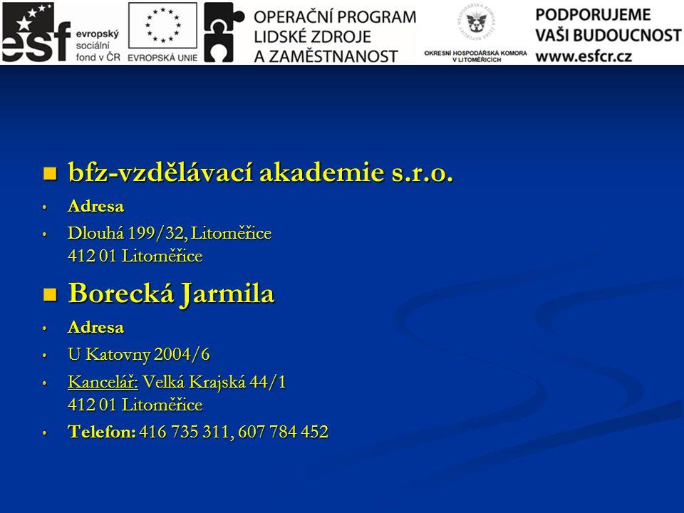 bfz-vzdělávací akademie s.r.o. bfz-vzdělávací akademie s.r.o.