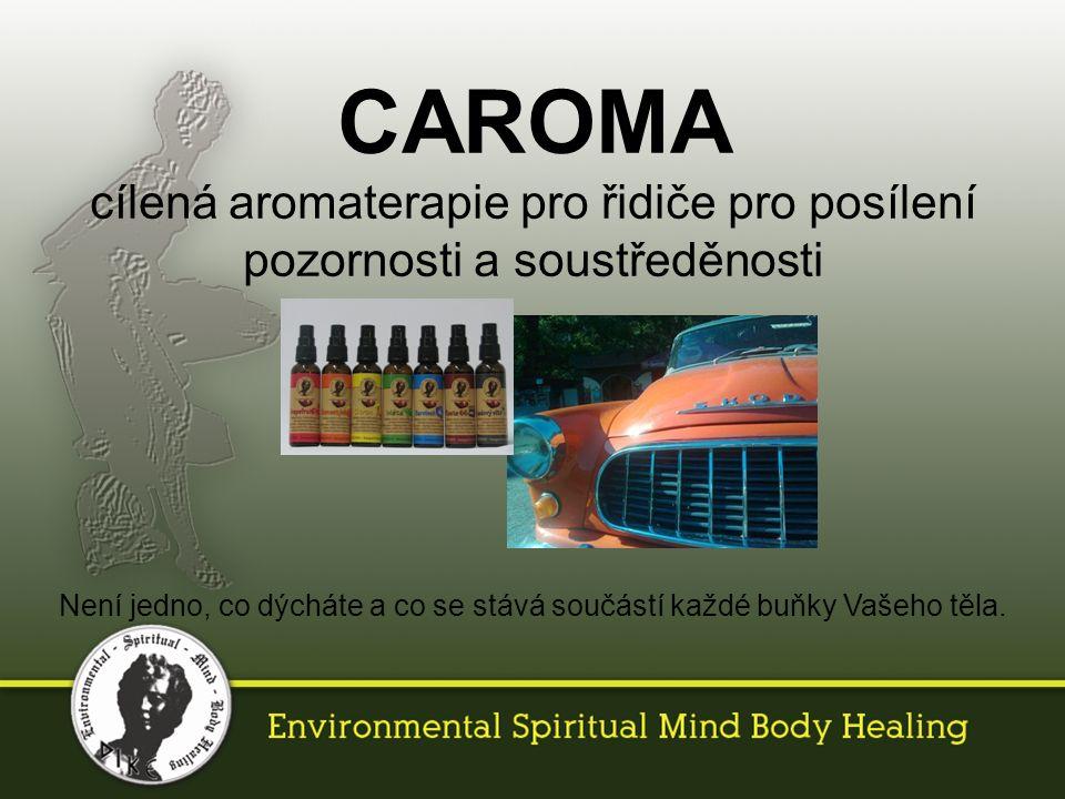 CAROMA cílená aromaterapie pro řidiče pro posílení pozornosti a soustředěnosti Není jedno, co dýcháte a co se stává součástí každé buňky Vašeho těla.