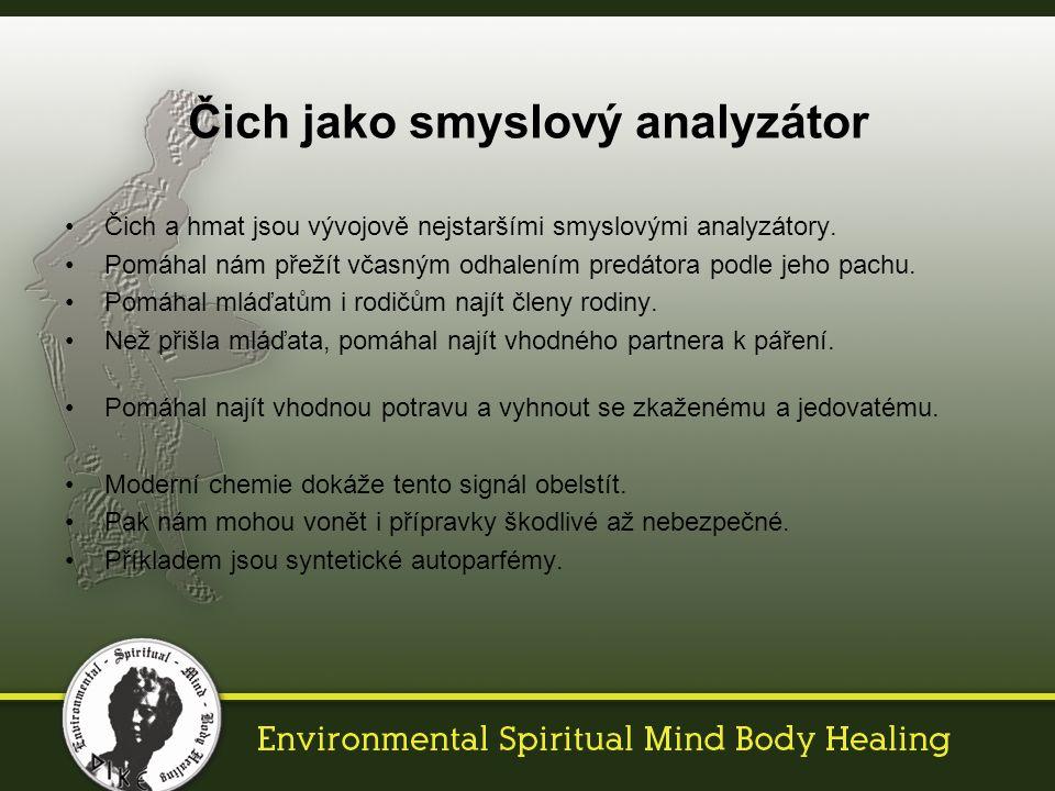 Čich a hmat jsou vývojově nejstaršími smyslovými analyzátory.