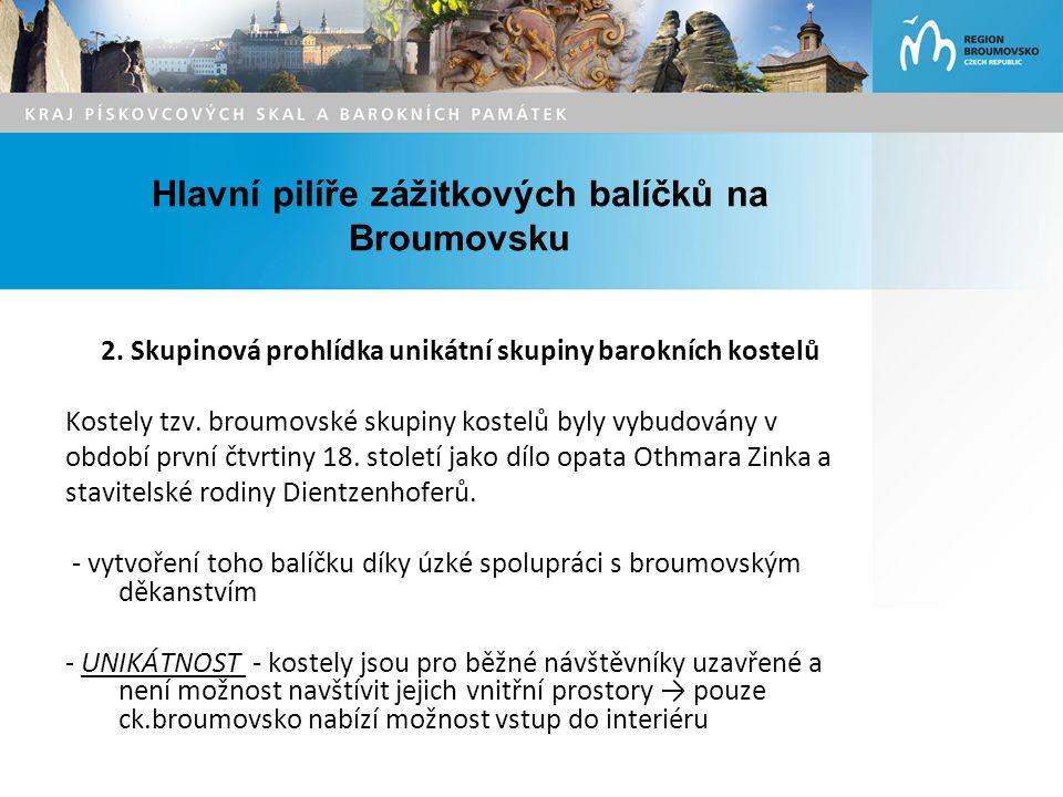 Hlavní pilíře zážitkových balíčků na Broumovsku 2.