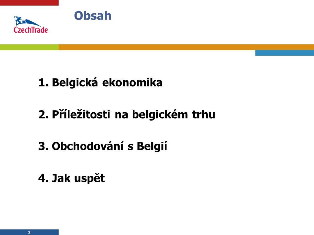 2 1. Belgická ekonomika 2. Příležitosti na belgickém trhu 3.