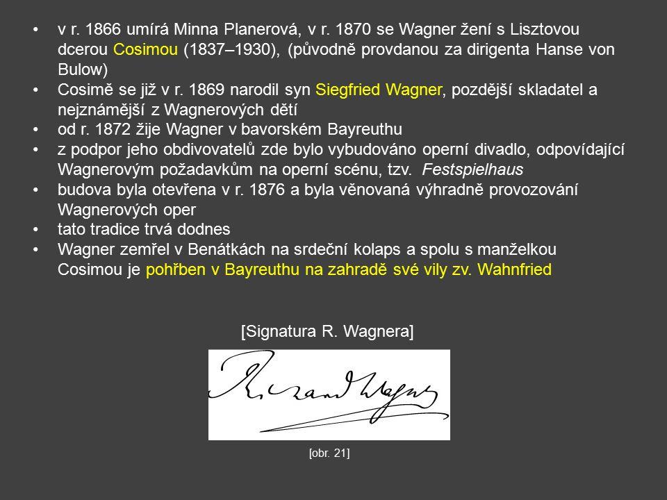 v r. 1866 umírá Minna Planerová, v r.