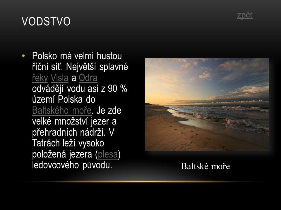 Polsko má velmi hustou říční síť. Největší splavné řeky Visla a Odra odvádějí vodu asi z 90 % území Polska do Baltského moře. Je zde velké množství je