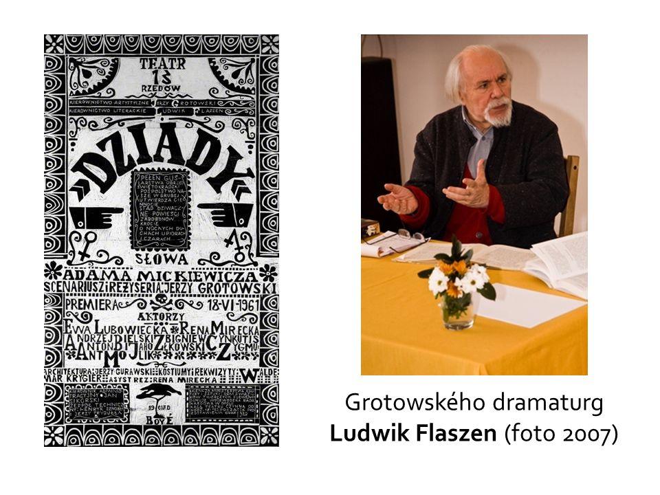 Grotowského dramaturg Ludwik Flaszen (foto 2007)