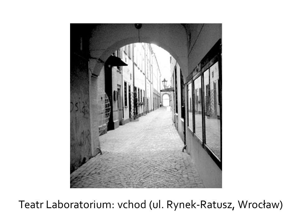 Teatr Laboratorium: vchod (ul. Rynek-Ratusz, Wrocław)