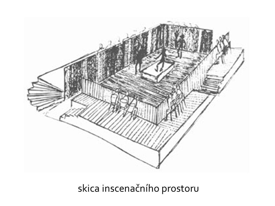skica inscenačního prostoru