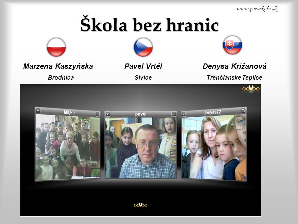 Škola bez hranic Pavel Vrtěl Sivice Denysa Križanová Trenčianske Teplice Marzena Kaszyńska Brodnica www.pozaskolu.sk