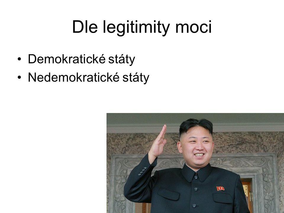 10 Dle legitimity moci Demokratické státy Nedemokratické státy