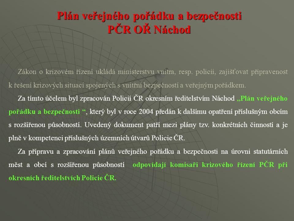 Zákon o krizovém řízení ukládá ministerstvu vnitra, resp. policii, zajišťovat připravenost k řešení krizových situací spojených s vnitřní bezpečností