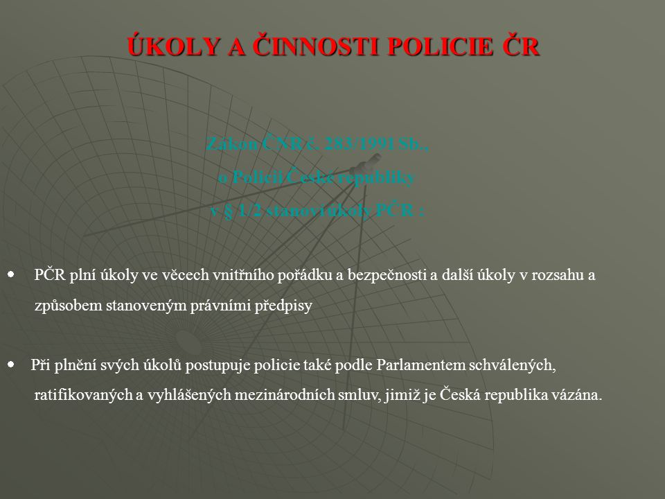 Zákon o krizovém řízení ukládá ministerstvu vnitra, resp.