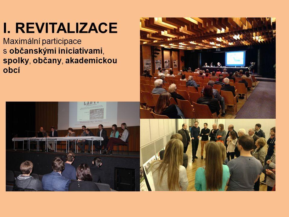 1. Rozbor všech zájmových veřejných prostranství v Praze 8 2. Hlasování o vybraných lokalitách