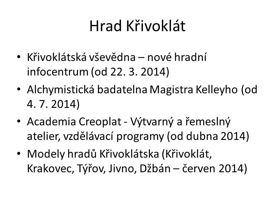 Hrad Křivoklát Křivoklátská vševědna – nové hradní infocentrum (od 22.