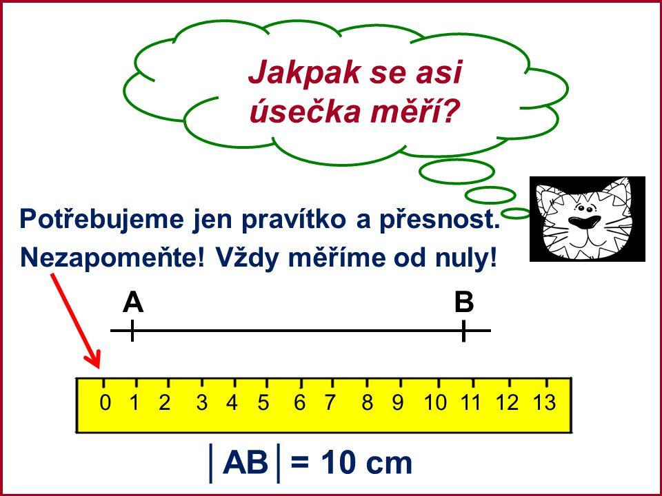 Narýsovat úsečku o dané délce.To je hračka. Úkol: Narýsujte úsečku MN, která měří 6 cm.