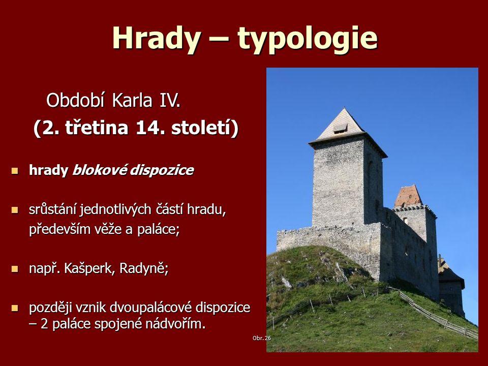 Hrady – typologie Období Karla IV. Období Karla IV.