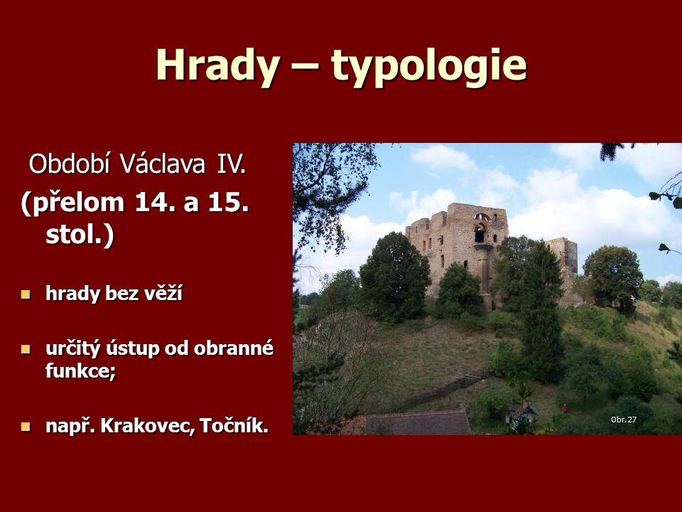Hrady – typologie Období Václava IV. Období Václava IV.