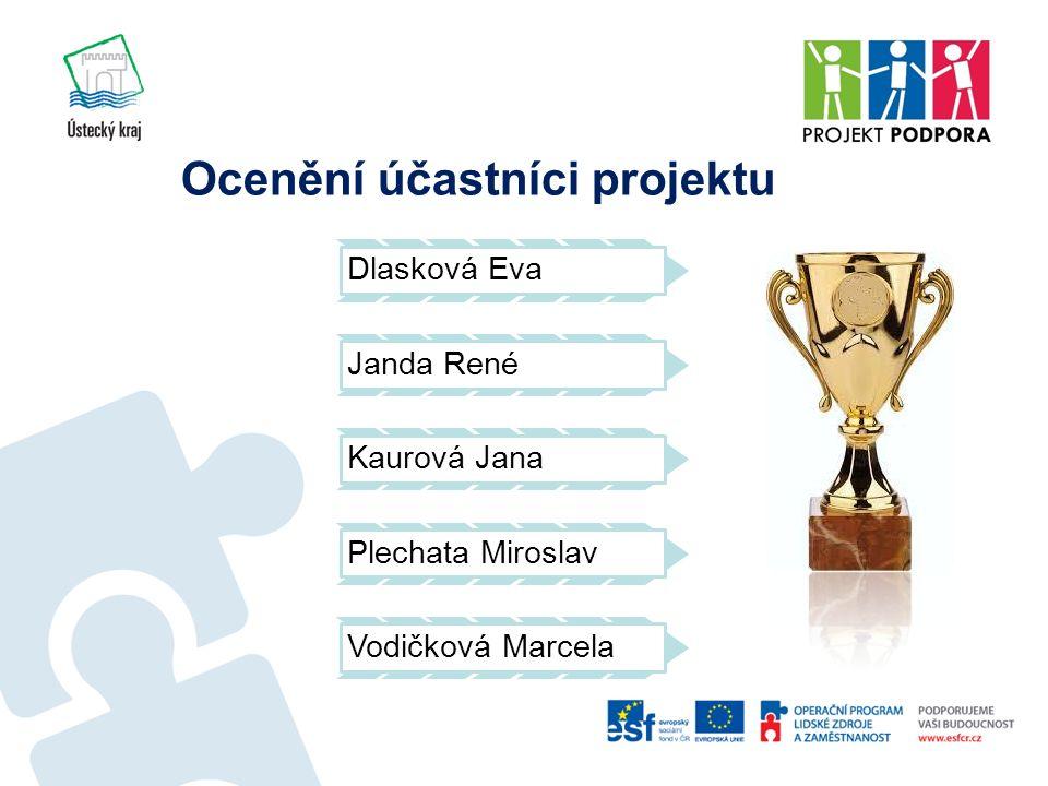 Ocenění účastníci projektu Dlasková Eva Janda René Kaurová Jana Plechata Miroslav Vodičková Marcela