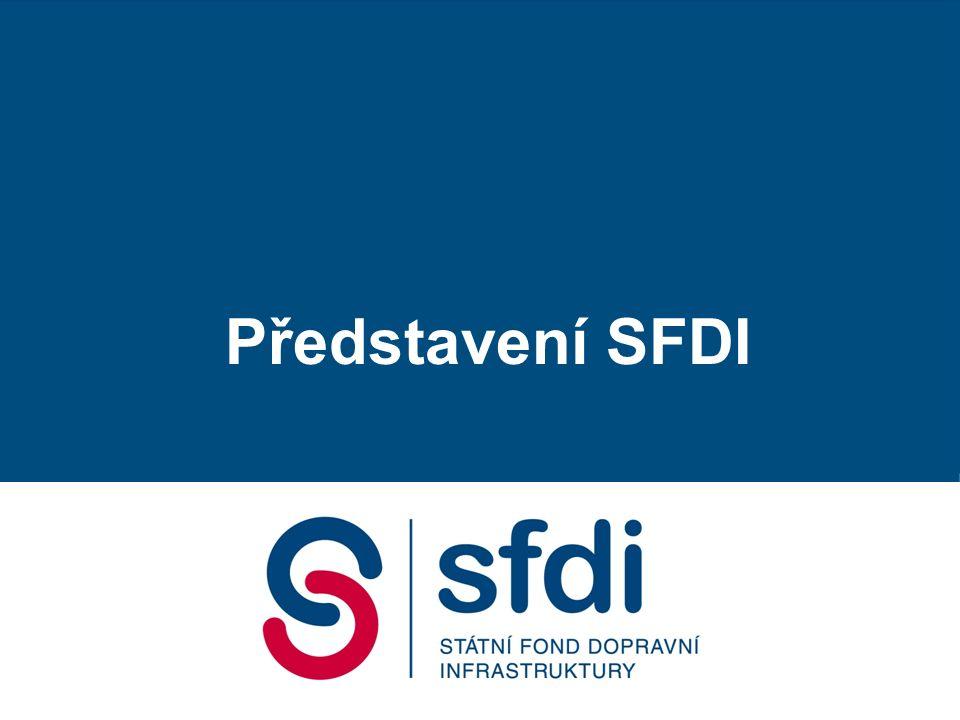 Příjmy SFDI: 100 % silniční daně 9,1 % spotřební daně z minerálních olejů příjmy z dálničních kupónů příjmy z mýta příspěvky z evropských fondů dotace z privatizačního účtu MF, dotace ze státního rozpočtu úvěry, úroky, penále dary a dědictví další příjmy Silnice Železnice Voda